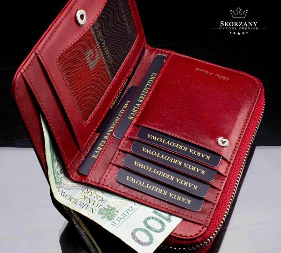 portfel damski Pierre Cardin kieszen na banknoty