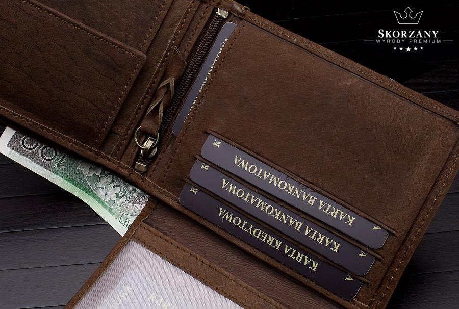portfel z przegrodami na karty zoom