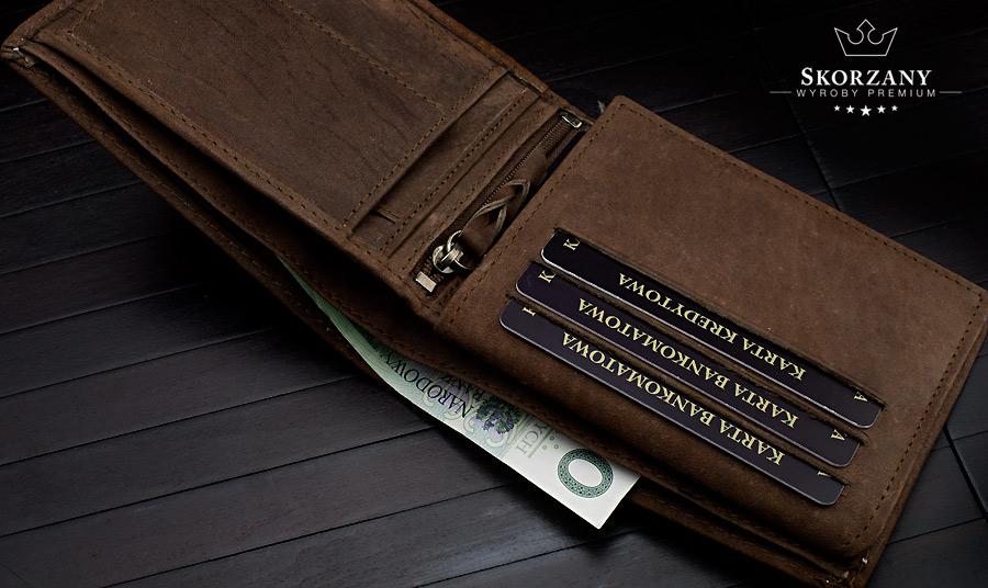 portfel m?ski - przegrody na banknoty